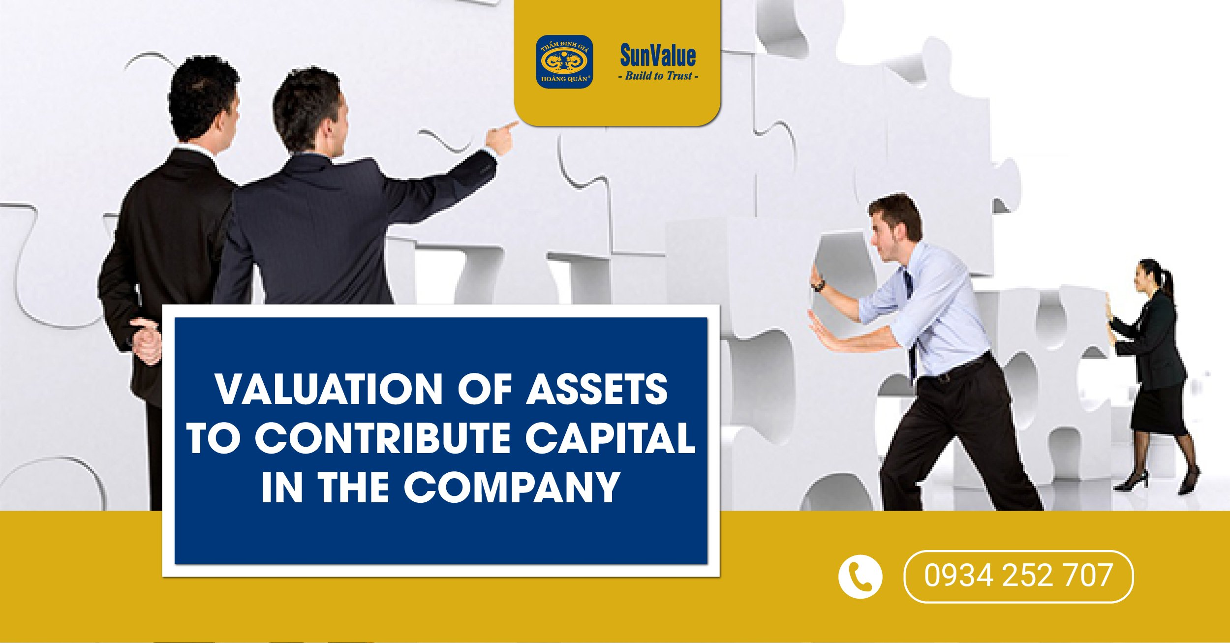 VALUATION OF ASSETS TO CONTRIBUTE CAPITAL IN THE COMPANY