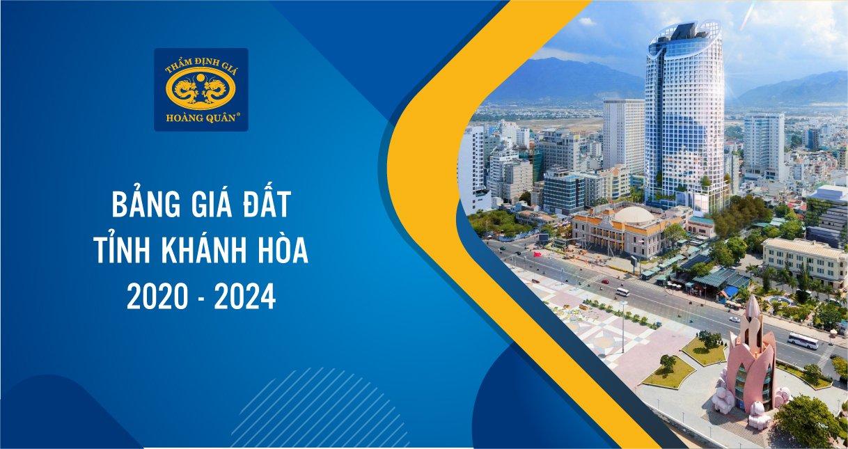 BẢNG GIÁ ĐẤT KHÁNH HÒA 2020-2024