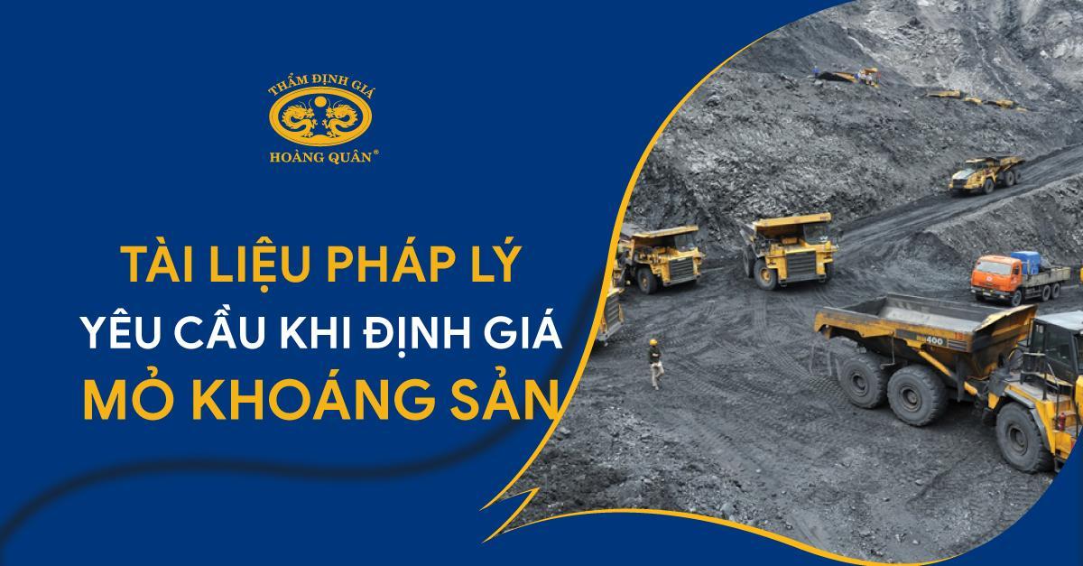 Tài liệu Pháp lý yêu cầu khi định giá mỏ khoáng sản